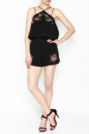 She + Sky Floral Embroidered Romper - Side cropped