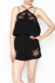 She + Sky Floral Embroidered Romper - Product Mini Image