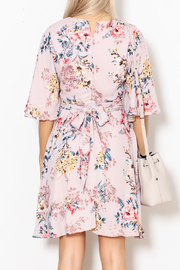 She + Sky Floral Print Dress - Back cropped
