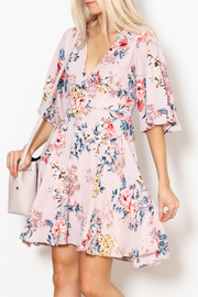 She + Sky Floral Print Dress - Front full body