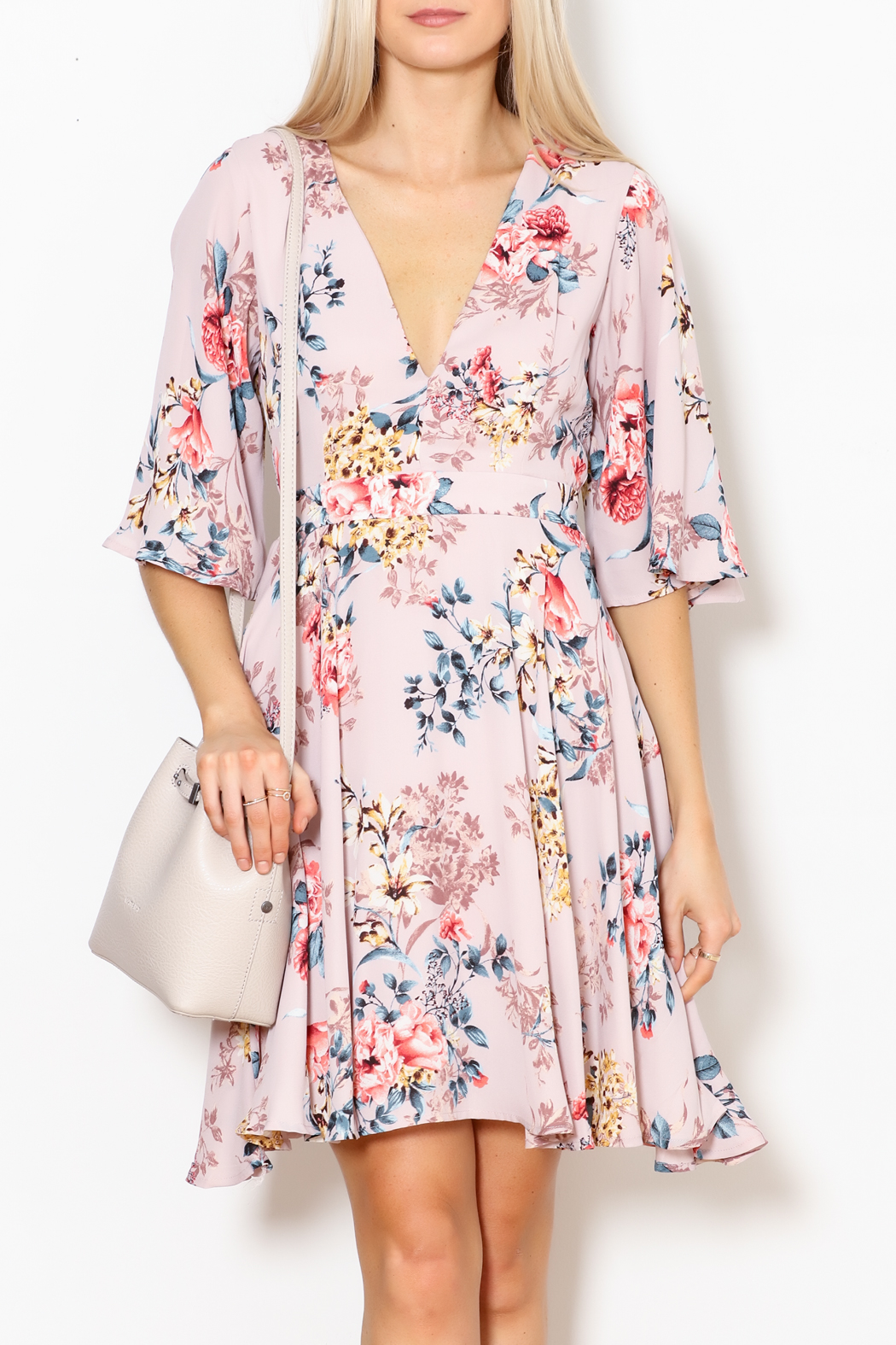 She + Sky Floral Print Dress - Main Image