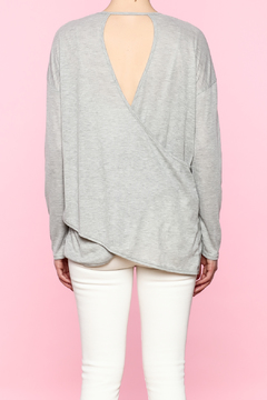 Shoptiques Product: Grey Cutout Top