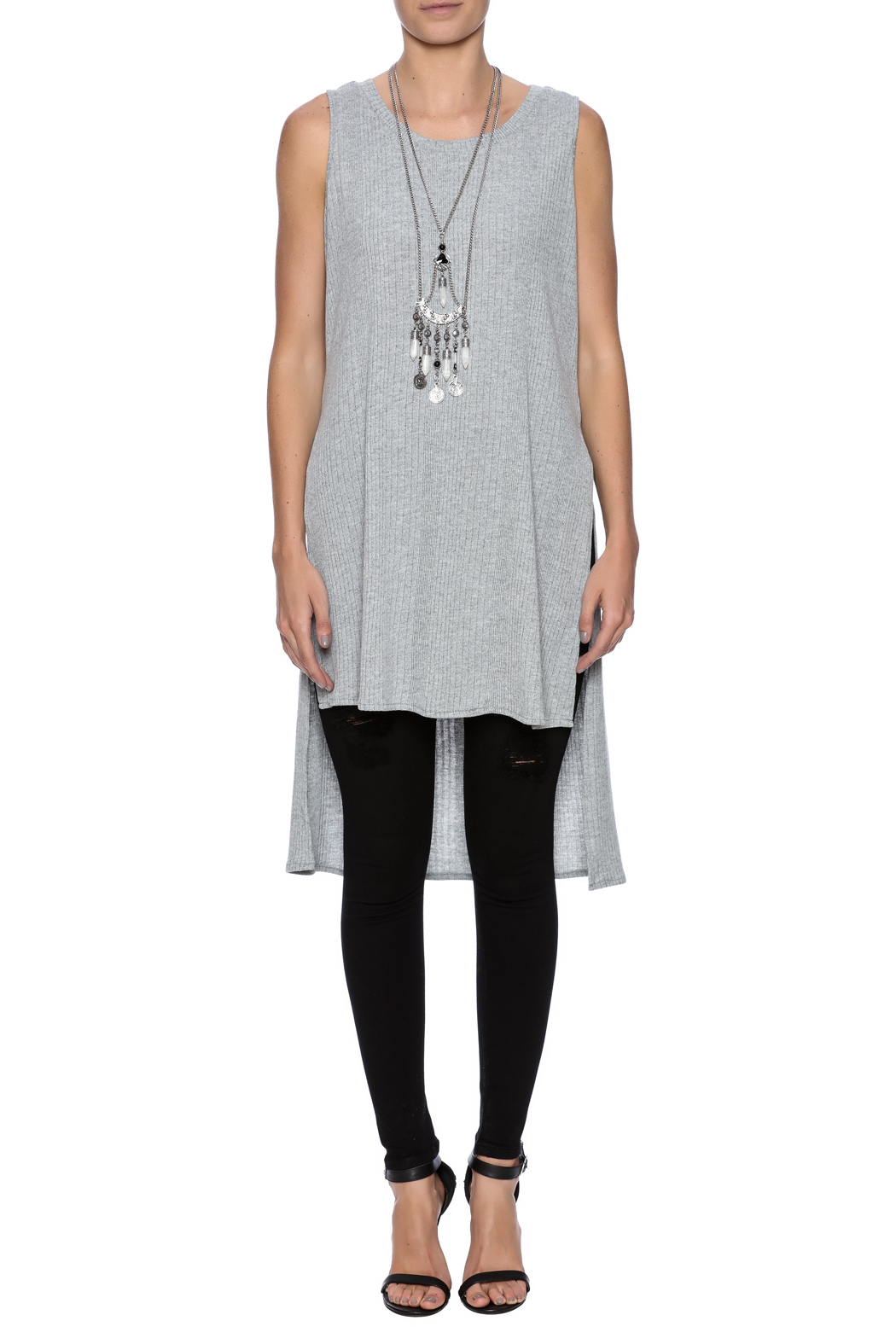 She sky hi low tunic top from illinois by vibrant vida for Boutique tops