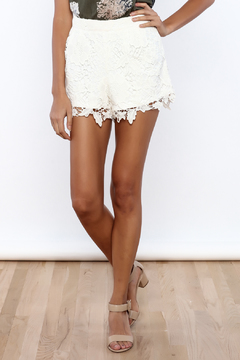 She + Sky Lace Detailed Shorts - Product List Image