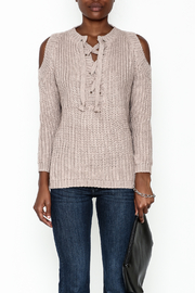She + Sky Lace Up Sweater - Front full body