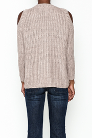 She + Sky Lace Up Sweater - Back cropped