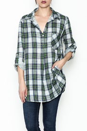 She + Sky Lightweight Flannel Top - Product Mini Image