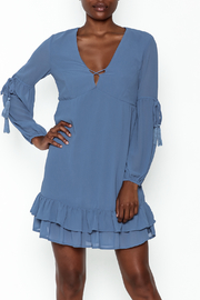 She + Sky Long Sleeve Dress - Front cropped