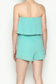 She + Sky Mint Strapless Romper - Back cropped