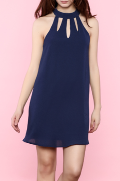 Shoptiques Product: Navy Cutout Dress