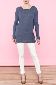 She + Sky Navy Cutout Top - Side cropped