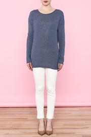 She + Sky Navy Cutout Top - Other