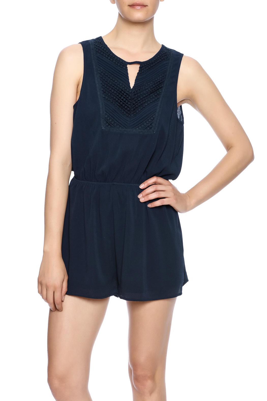 440723cff0af She + Sky Navy Pintuck Romper from Texas by Miss McGillicuddy s ...