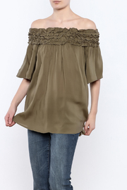 She + Sky Olive Off Shoulder Top - Product Mini Image