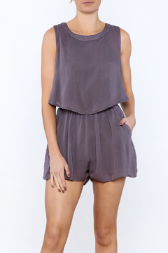 She + Sky Lilac Open Back Romper - Product List Image