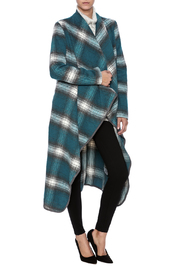 She + Sky Plaid Midi Coat - Product Mini Image