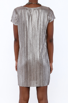 She + Sky Pleated Metallic Dress - Alternate List Image