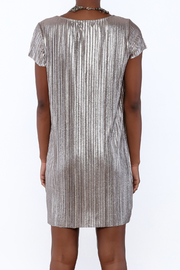 She + Sky Pleated Metallic Dress - Back cropped