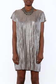 She + Sky Pleated Metallic Dress - Side cropped