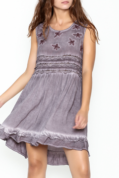 Shoptiques Product: Purple Ruffle Tunic