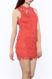 She + Sky Red Lace Dress - Product Mini Image