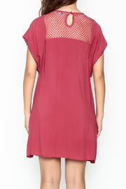 She + Sky Red Lace Tunic - Back cropped
