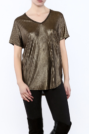 She + Sky Ribbed Metallic Tee - Product Mini Image