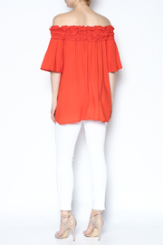 She + Sky Ruffle Off The Shoulder Shirt - Other