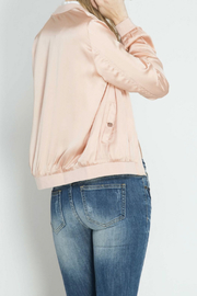 She + Sky Satin Bomber Jacket - Back cropped