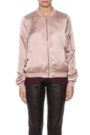 She + Sky Satin Bomber Jacket - Side cropped