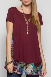 She + Sky Short Sleeve Floral Tunic - Product Mini Image