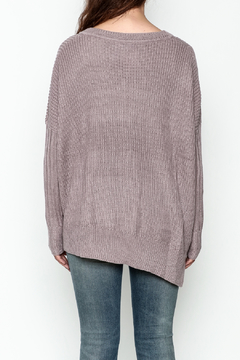 She + Sky Side Lace Up Sweater - Alternate List Image