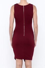 She + Sky Textured Bodycon Dress - Back cropped