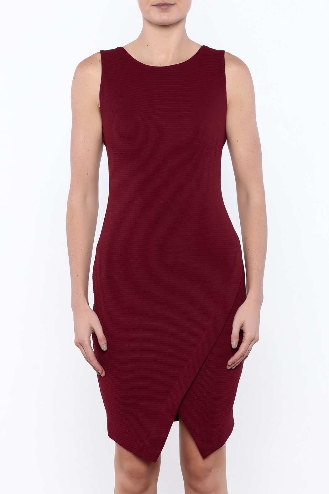 She + Sky Textured Bodycon Dress - Side Cropped Image