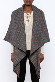 She + Sky Textured Grey Striped Vest - Product Mini Image