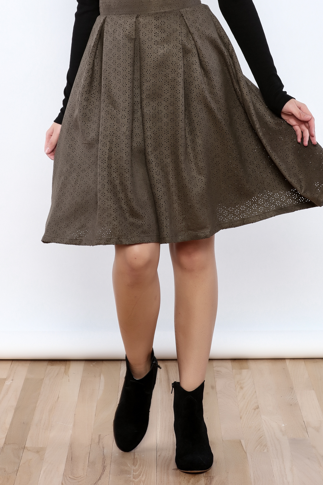 She + Sky The Olive Skirt - Front Cropped Image