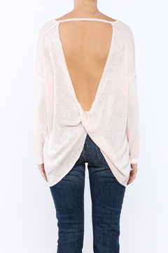 She + Sky Pink Twist Back Top - Product List Image