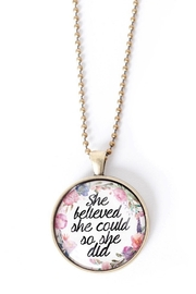 The Vintage Sparrow She Believed Necklace - Product Mini Image