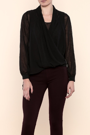 SHE Boutique Black Sheer Blouse - Product Mini Image