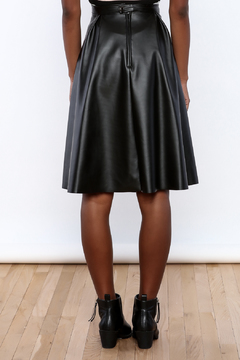 Shoptiques Product: Faux Leather Pleated Skirt