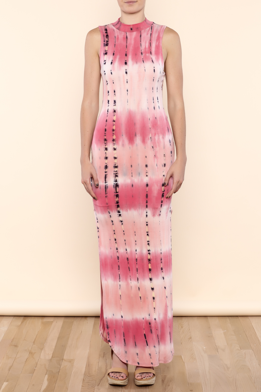 SHE Boutique Tie Dye Maxi Dress - Front Full Image