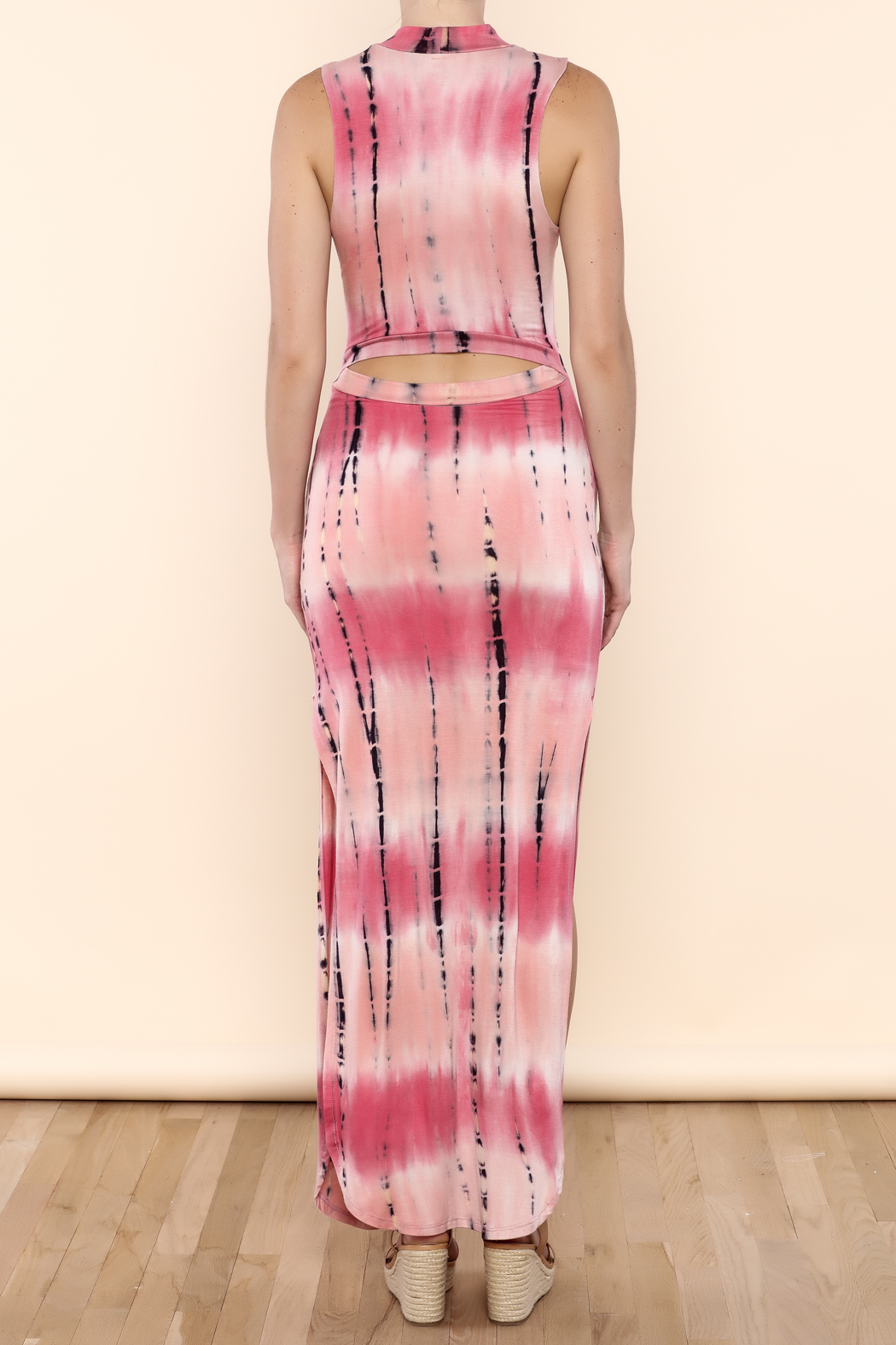 SHE Boutique Tie Dye Maxi Dress - Back Cropped Image