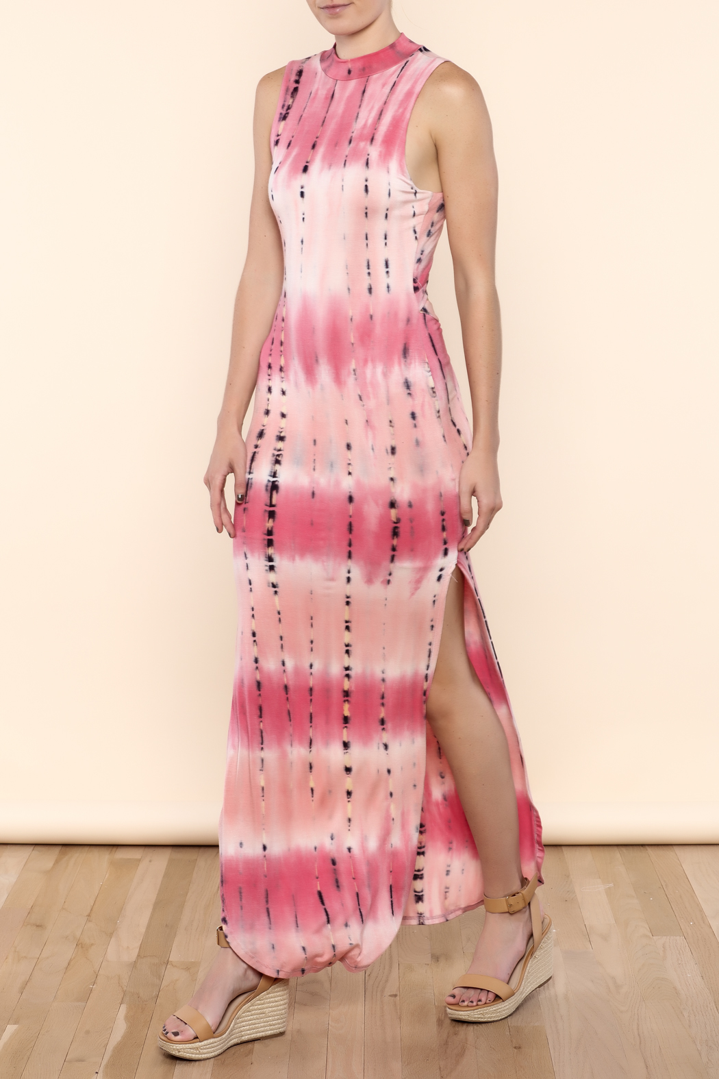 SHE Boutique Tie Dye Maxi Dress - Front Cropped Image