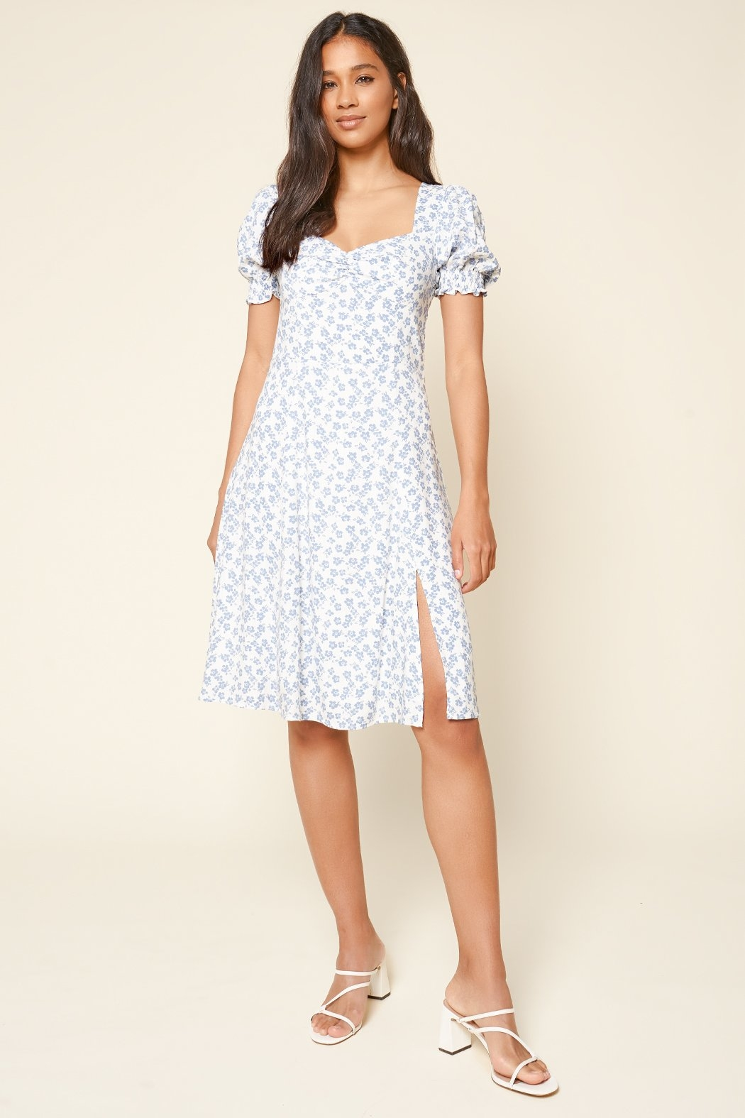 Sugarlips She's A Wildflower Floral Midi Dress - Front Cropped Image