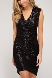 she+sky Black Sequin Dress - Product Mini Image