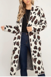 she+sky Ivory Leopard Cardigan - Product Mini Image