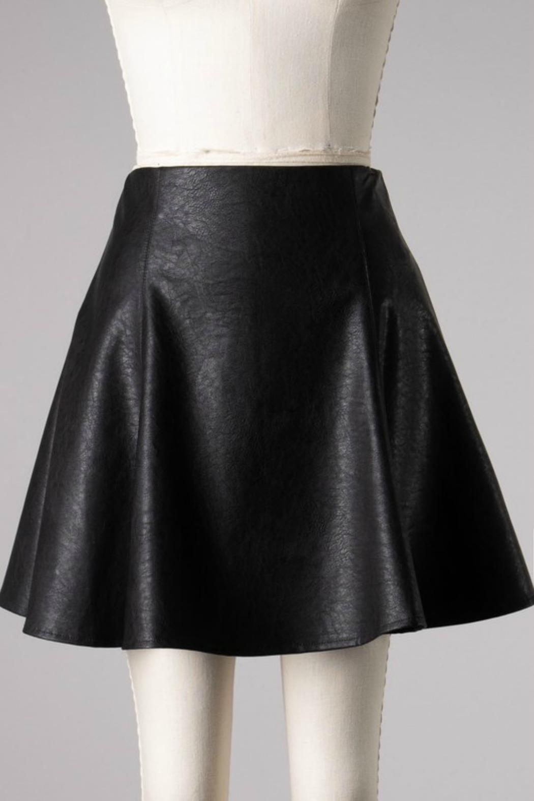 she+sky Mimi Faux-Leather Skirt - Side Cropped Image