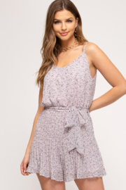 She + Sky Romper - Front cropped