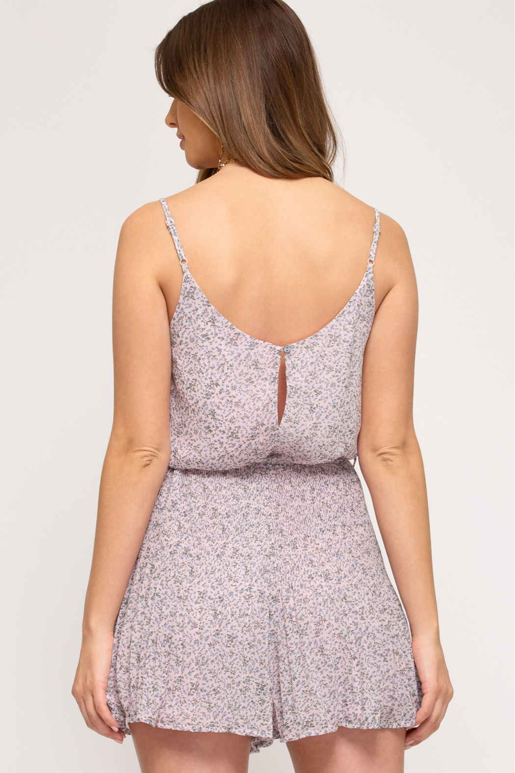 She + Sky Romper - Side Cropped Image