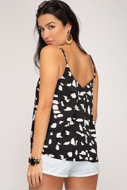 She + Sky Abstract Cami Top - Front full body